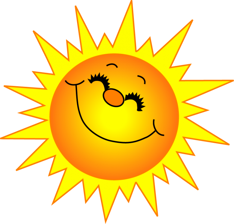 happy sun clipart #39816