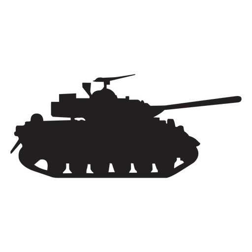 military tank silhouette transparent png svg vector #29173