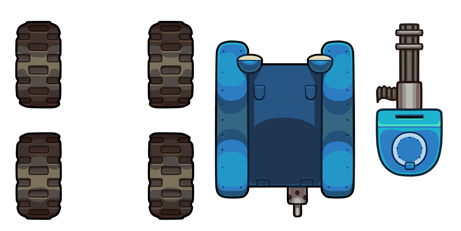 tank, top down vehicle opengameart #29168