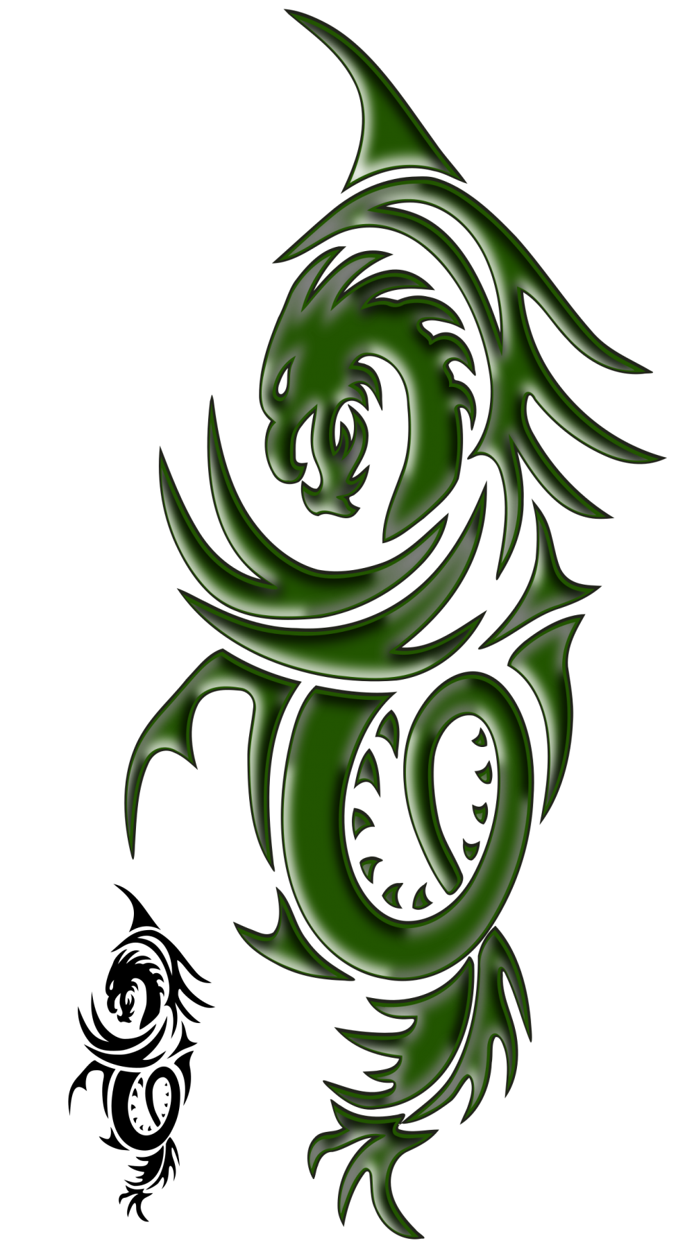 dragon tattoo png transparent image transparent 11912