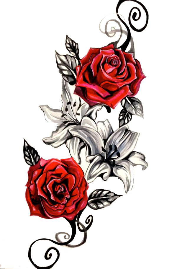 rose tattoo png transparent images png only #11777