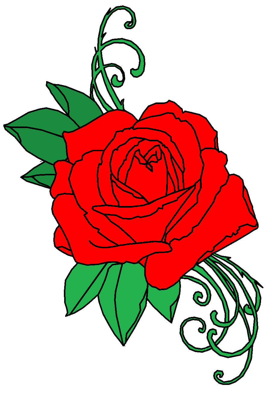 rose tattoo png transparent images png only #11816