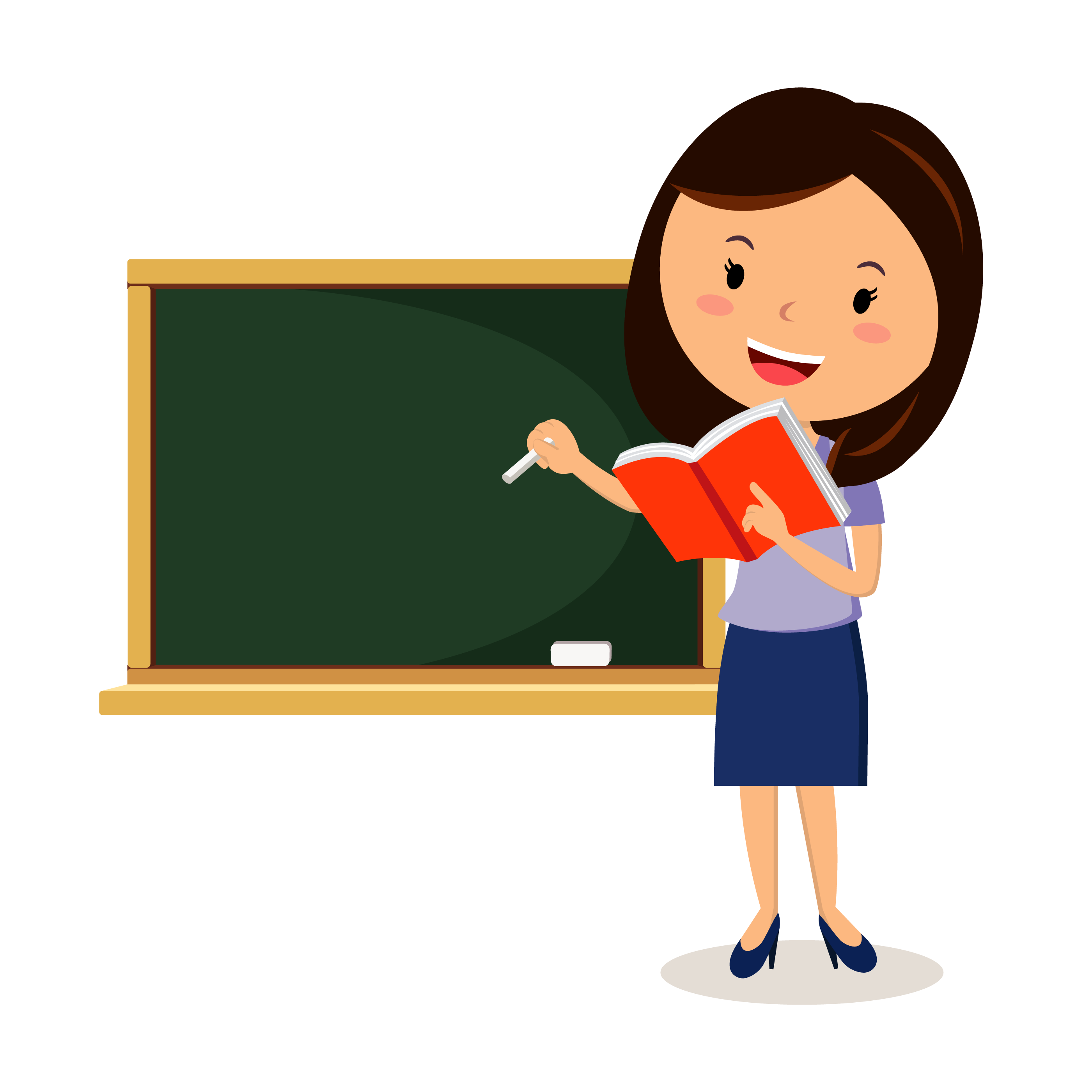 Teacher Clipart PNG images, Cartoon Teachers, Students And ...