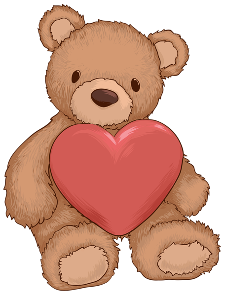 teddy bear with heart png clip art image gallery #15723