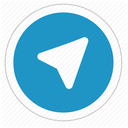 round sign telegram icon #21822
