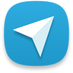 web telegram icon captiva iconset bokehlicia #21819