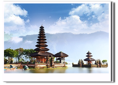 temple bell, bedugul and tanah lot #21930