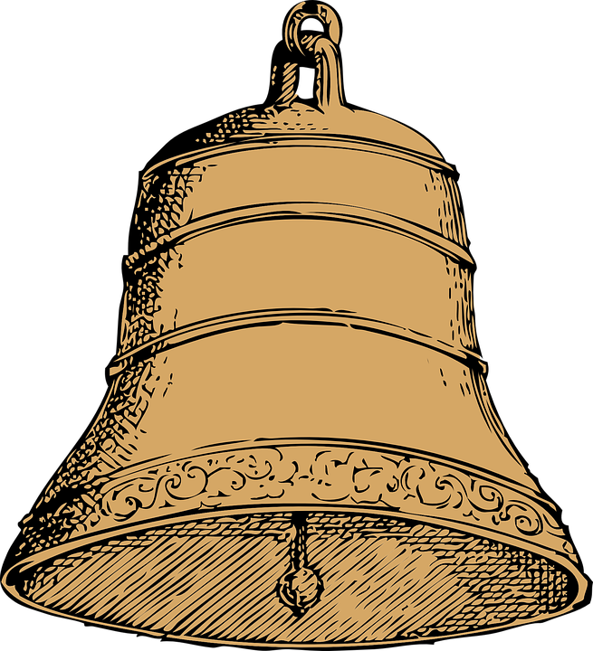 temple bell, vector graphic bell sound metallic alert #21882