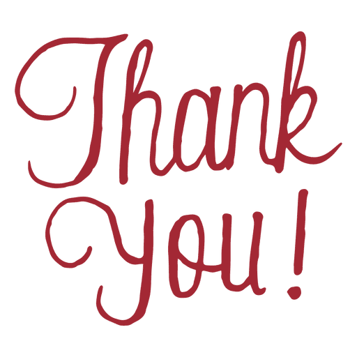 thank you script message transparent png svg vector #11945