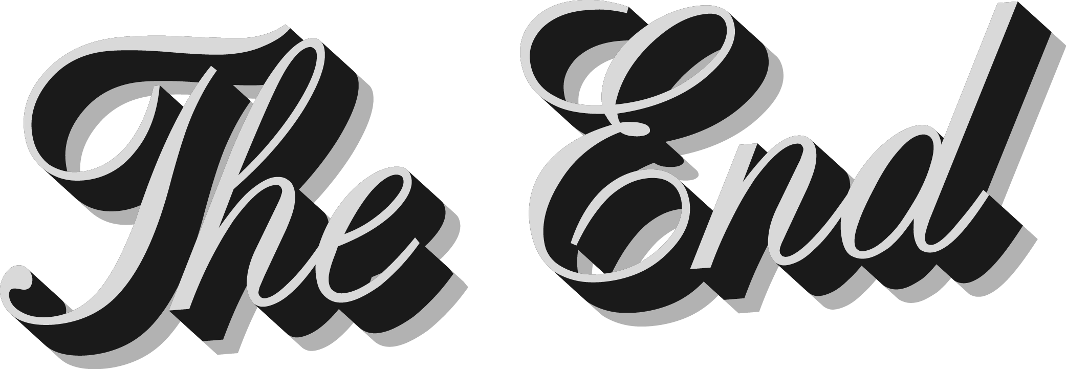The END Transparent PNG, The End Sign images - Free Transparent PNG Logos
