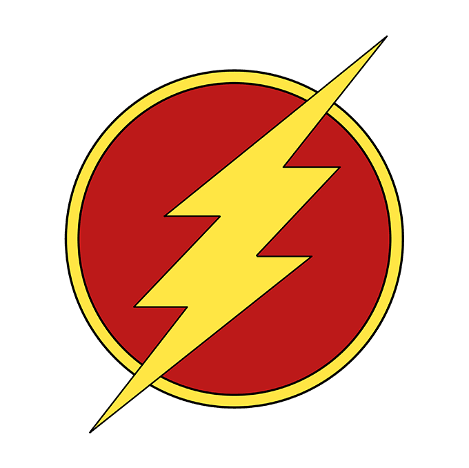 how draw the flash logo really easy drawing tutorial 27248