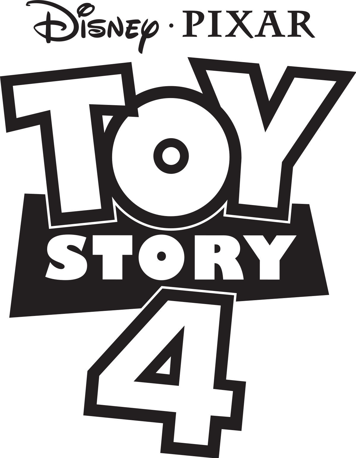 toy story 4 logo black png #41219