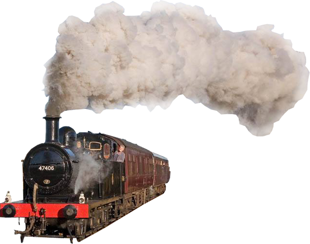 steam train transparent png #16151