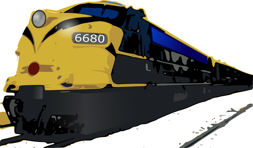 vector graphic train rail railway image #16187