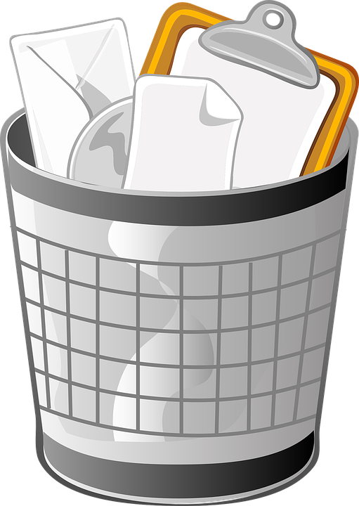 vector graphic trash can wastebasket receptical #24842