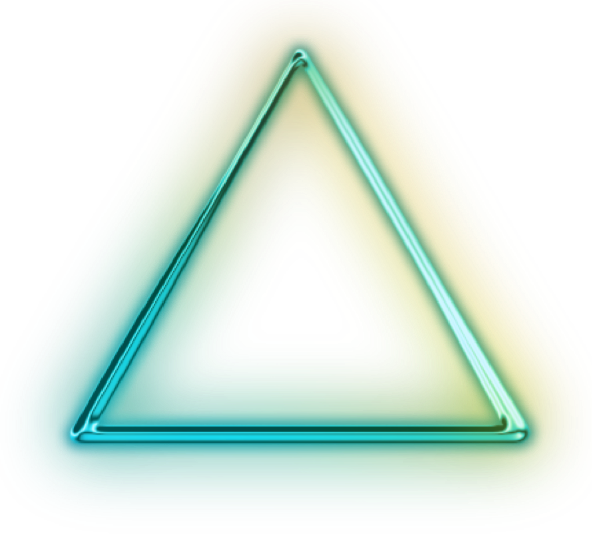 green neon triangle png #41362