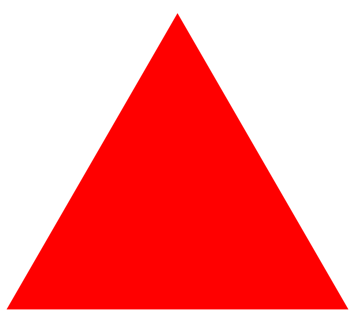 red triangle transparent png #41350