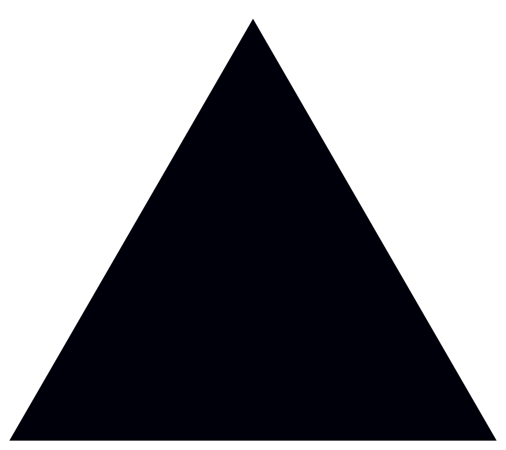 triangle black transparent background #41356