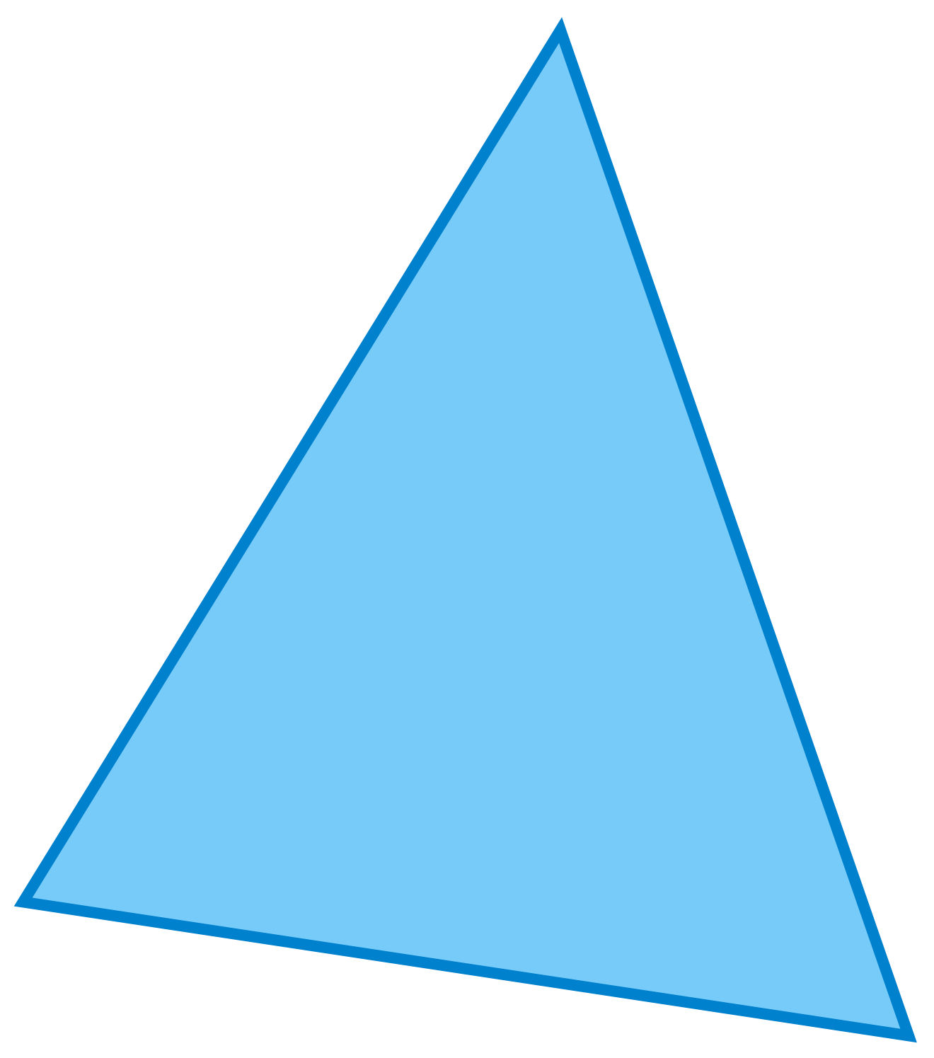triangle light blue side view png #41355
