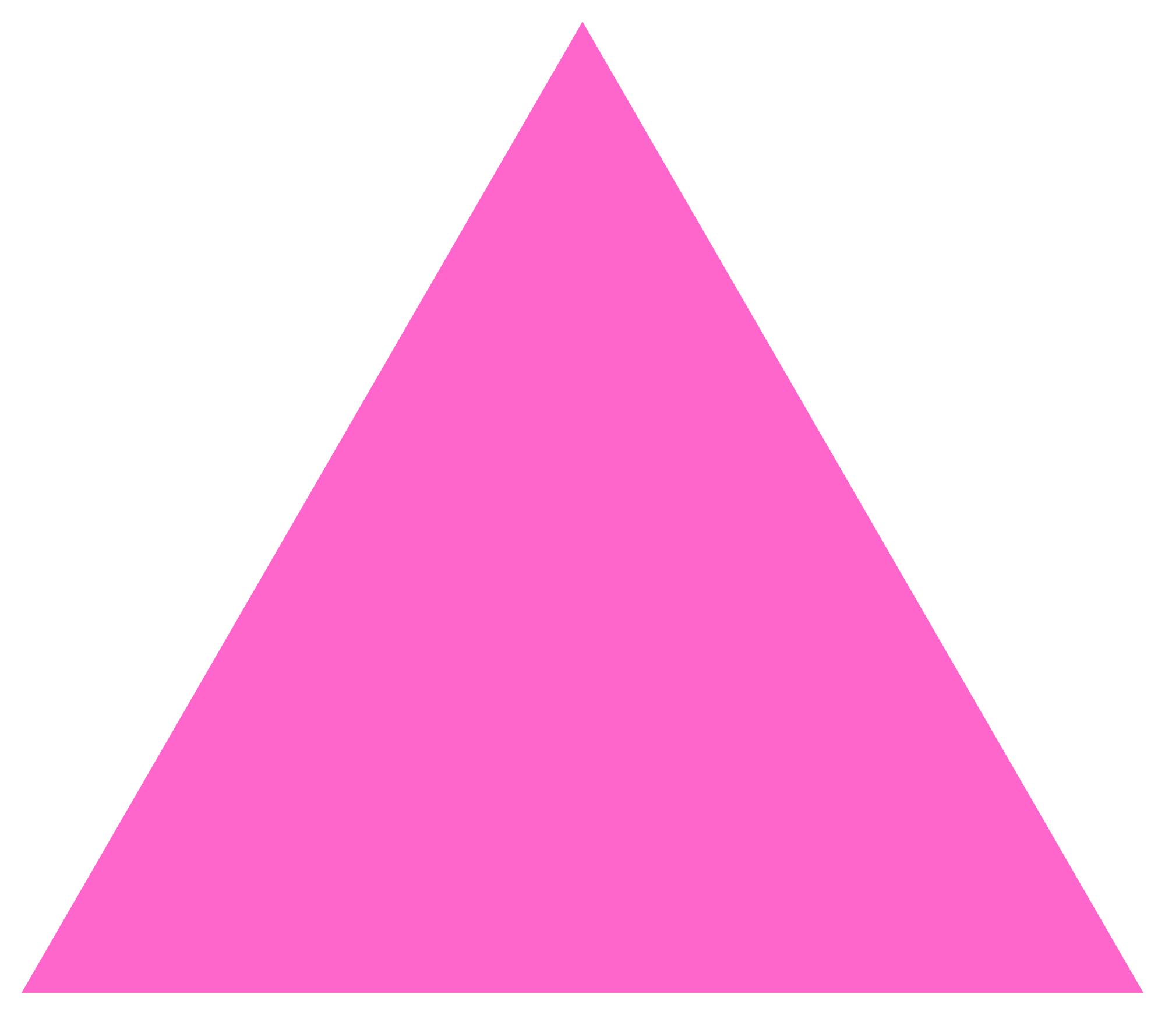 triangle pink png #41357