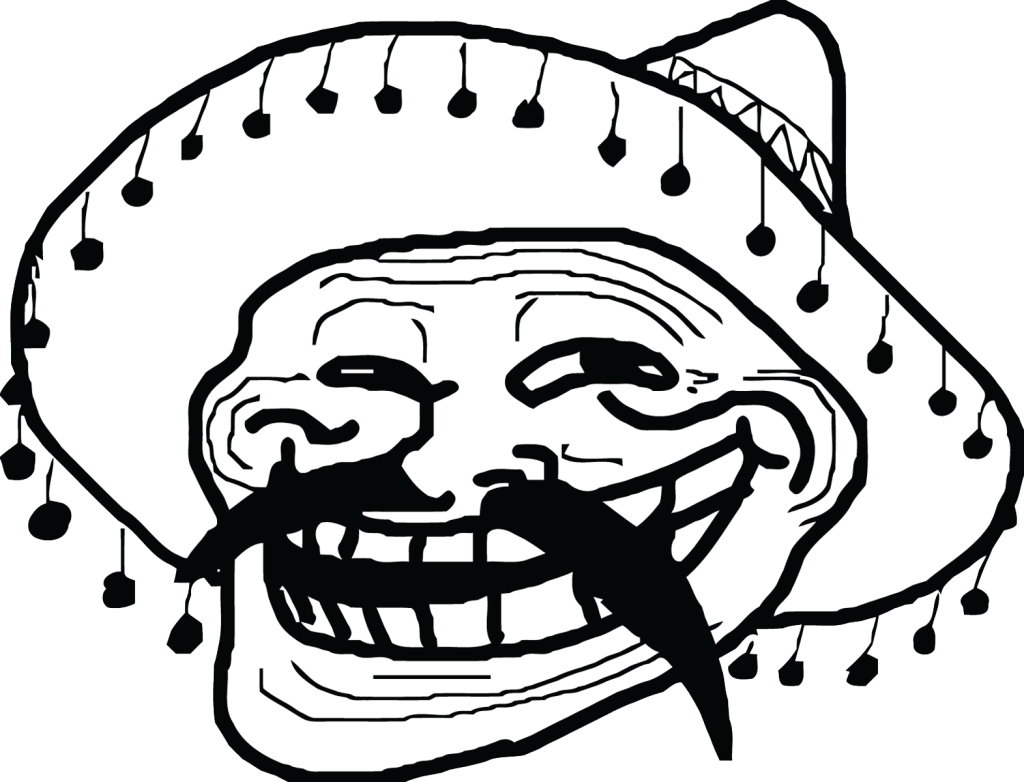 mexican meme troll face transparent png stickpng #18218