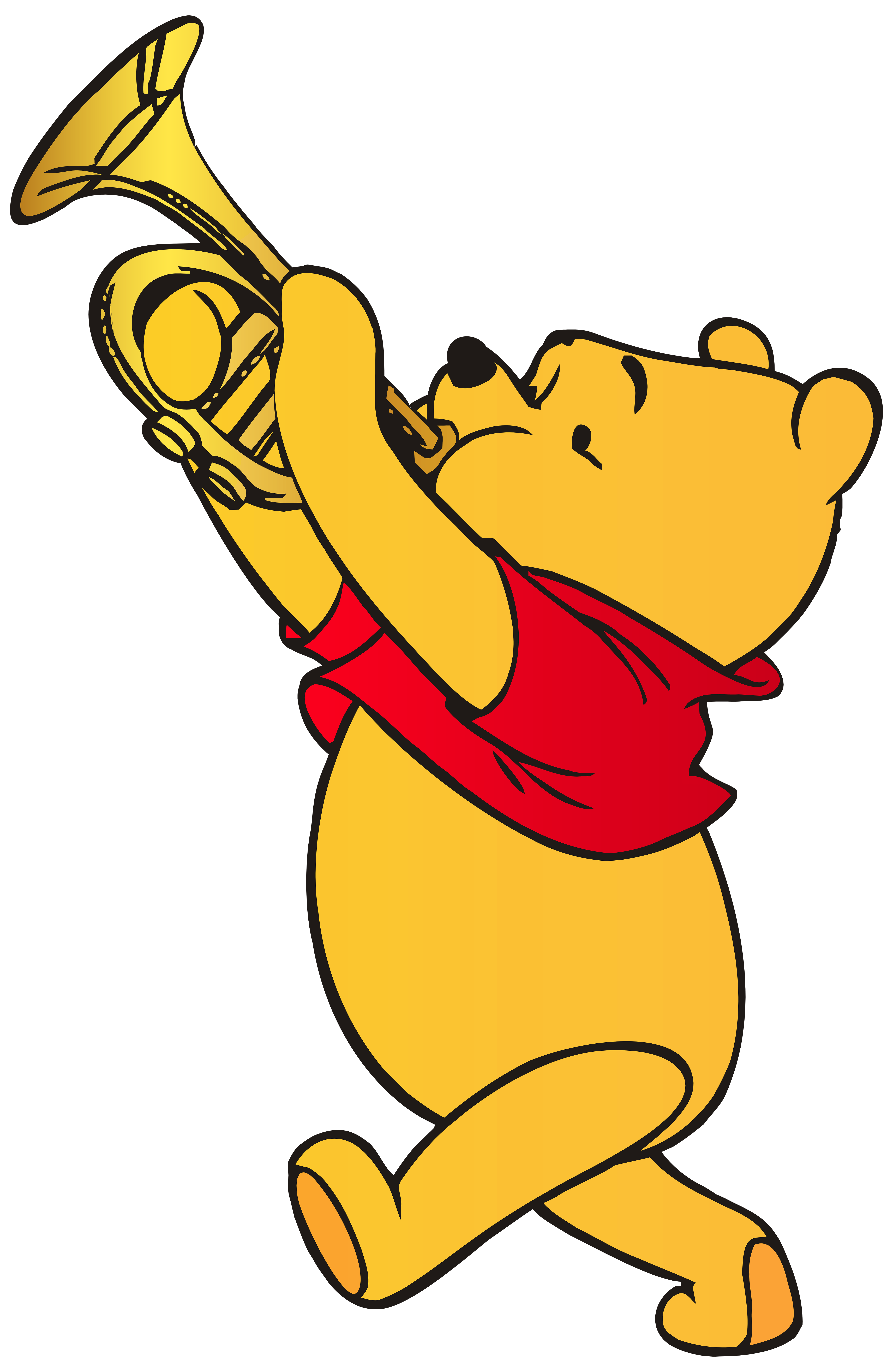 trumpet clipart, winnie the pooh playing trumpet png clip art best web #31914