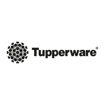tupperware black white png logo #6256