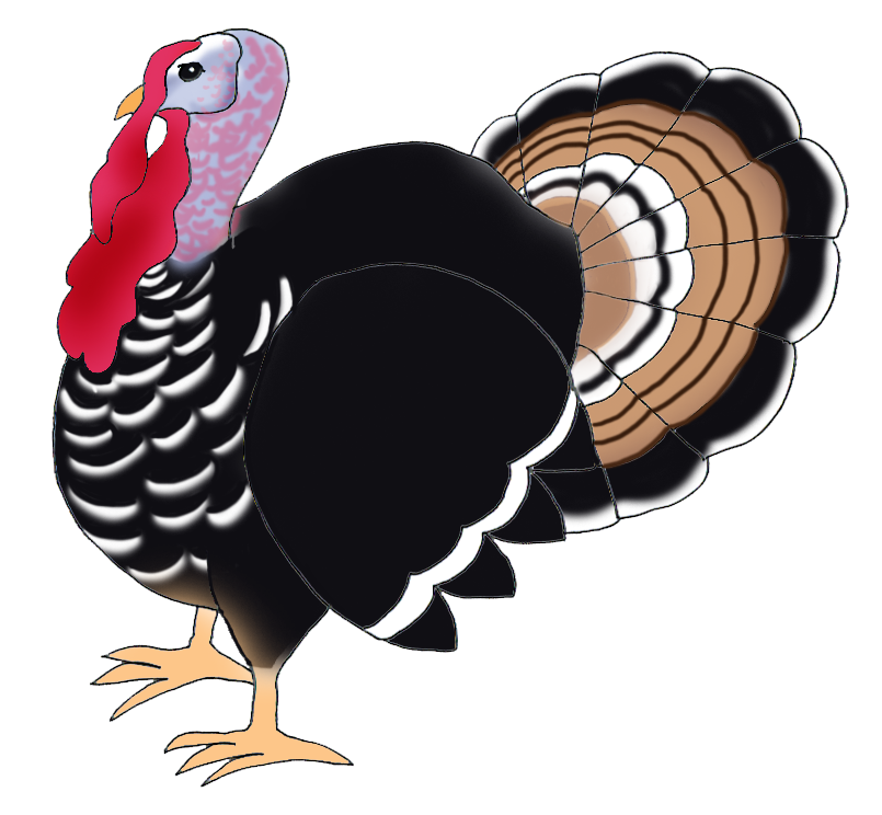turkey happy thanksgiving clipart #36182