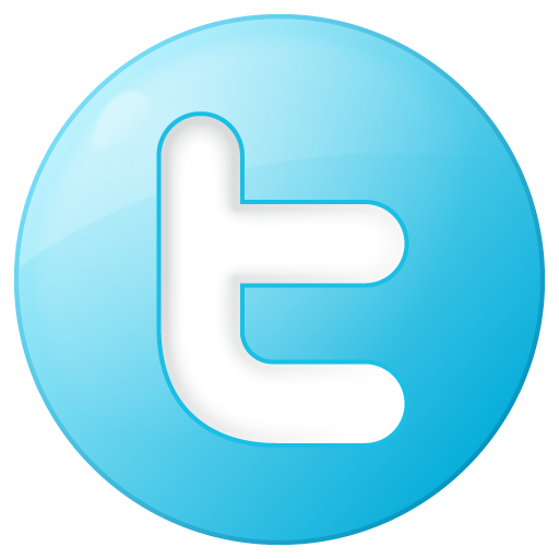 social twitter button blue icon png logo #5869