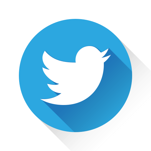 twitter logo in blue circle design, twitter icon #40404