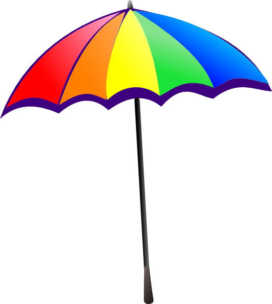rainbow umbrella clip art clkerm vector clip art #18642