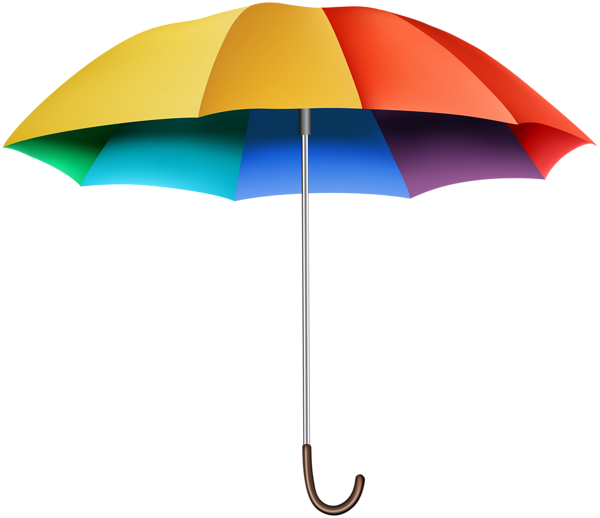 rainbow umbrella transparent clip art image gallery #18763