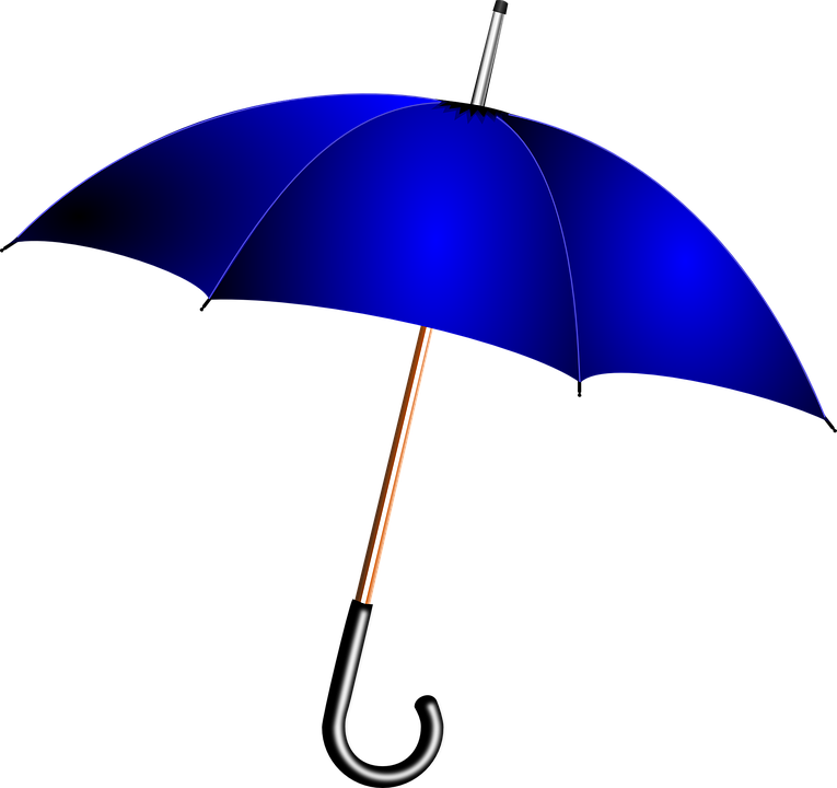 umbrella blue rain vector graphic pixabay #18639