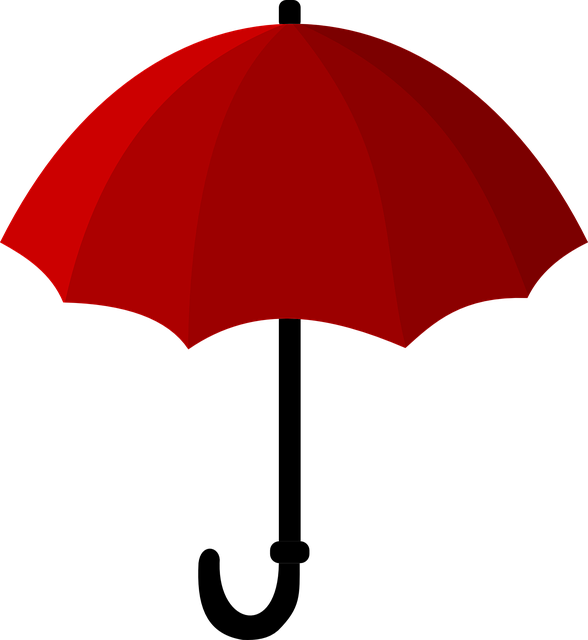 vector graphic umbrella red screen rain icon #18665
