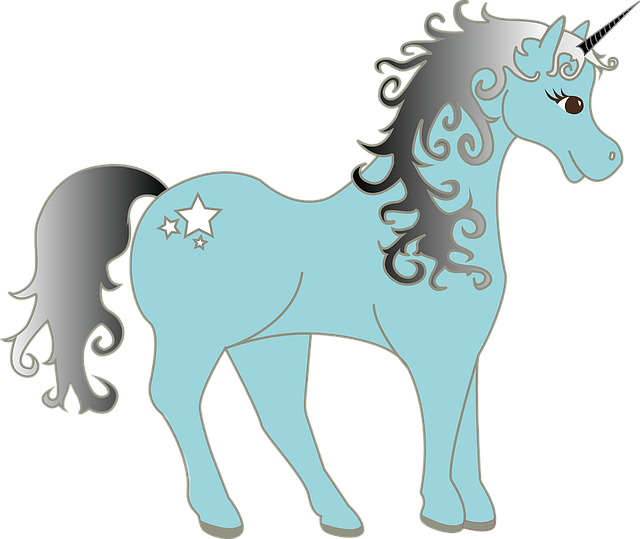 unicorn mythical creatures vector graphic pixabay #20211