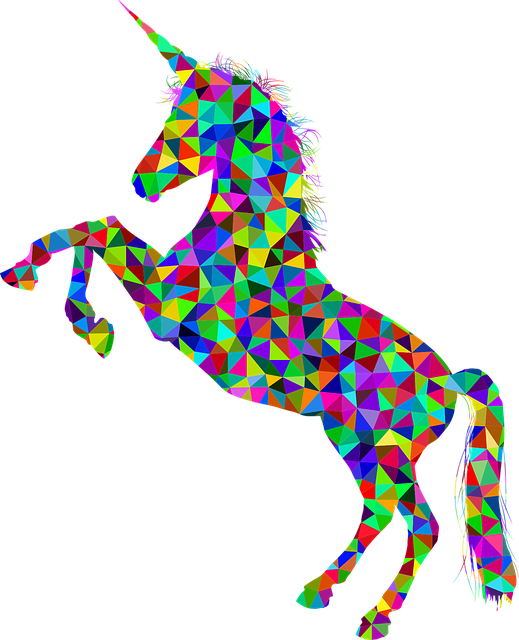 vector graphic unicorn horn horse equine #20152