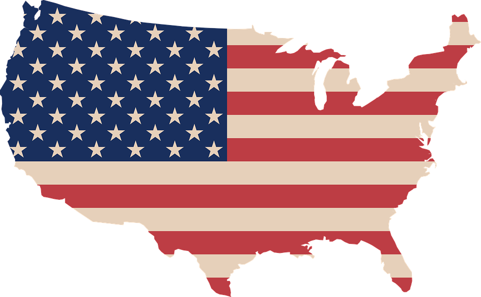 usa map flag map request complete vector graphic pixabay #36655