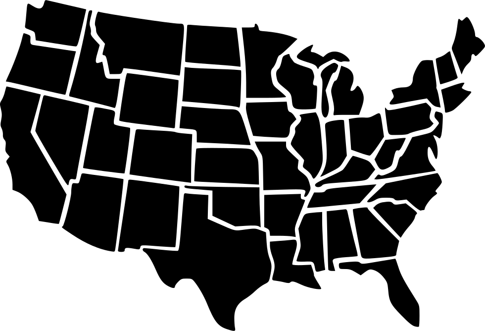 usa map svg png icon download #36654