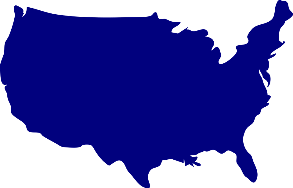 usa map united states russia vector graphic pixabay #36657