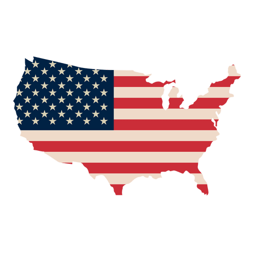 usa map usa flag print map transparent png svg vector #36652
