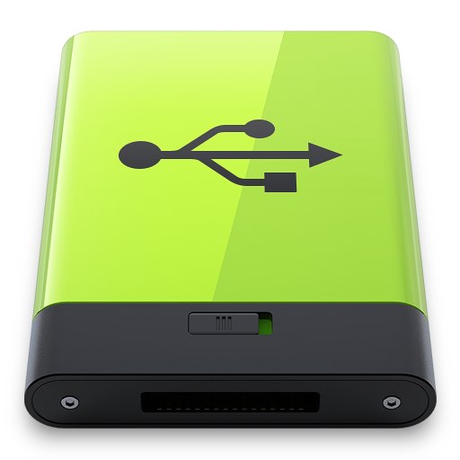 green usb icon hyper realistic iconset esxxi #24686