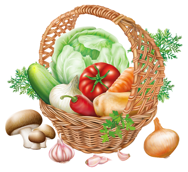basket with vegetables png clipart image gallery #15432