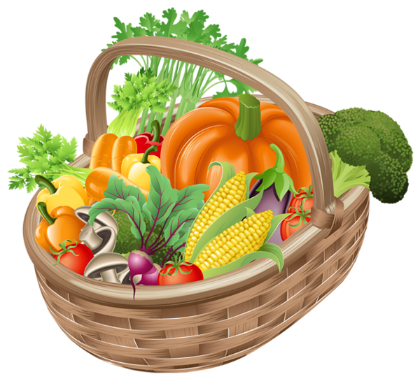 basket with vegetables png picture clipart gallery #15433