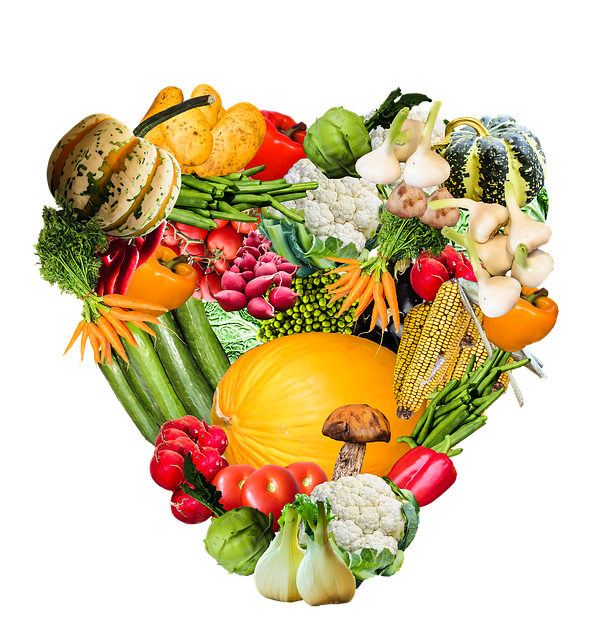 illustration heart vegetables harvest image #15408
