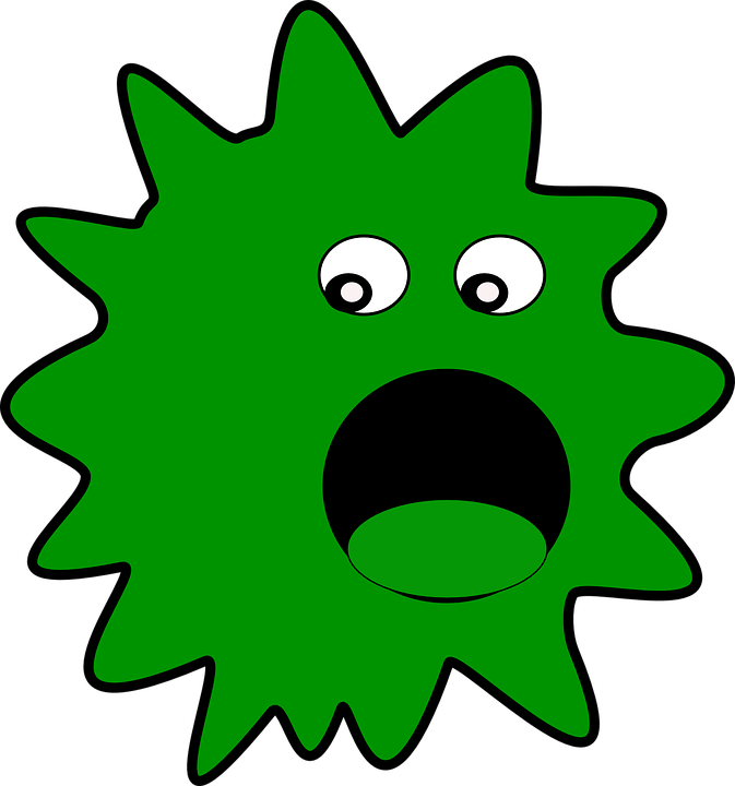 virus vermin germs vector graphic pixabay #36867