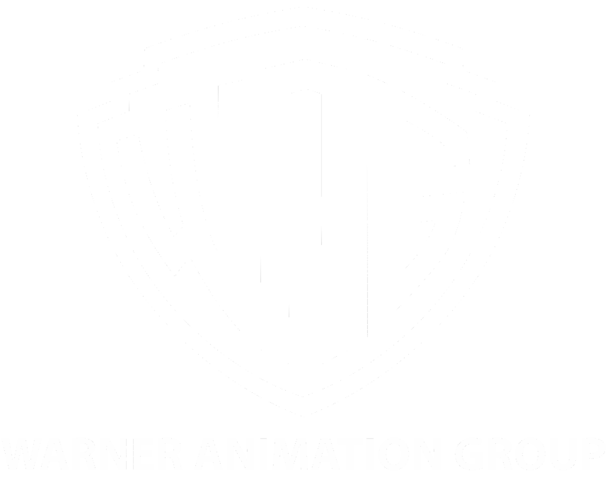 white image warner animation group logo