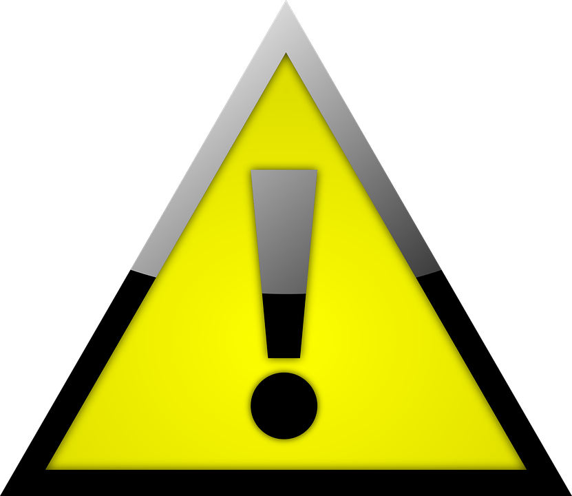 attention warning sign image pixabay #39210