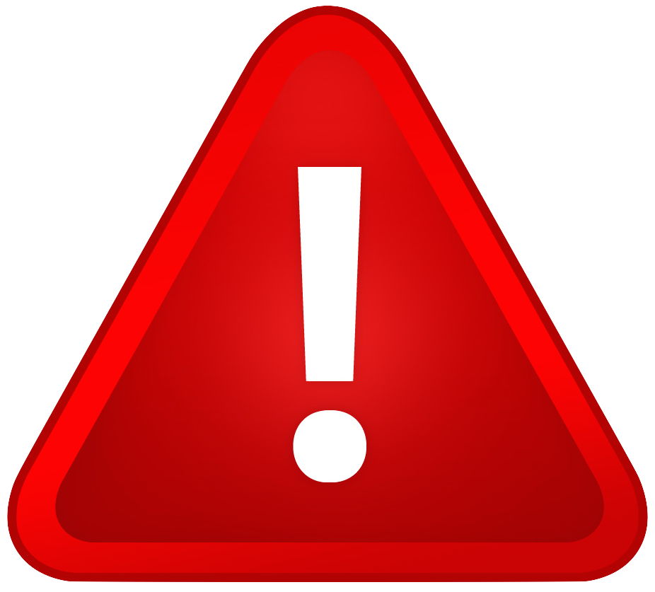 red warning sign exclamation mark png #39190