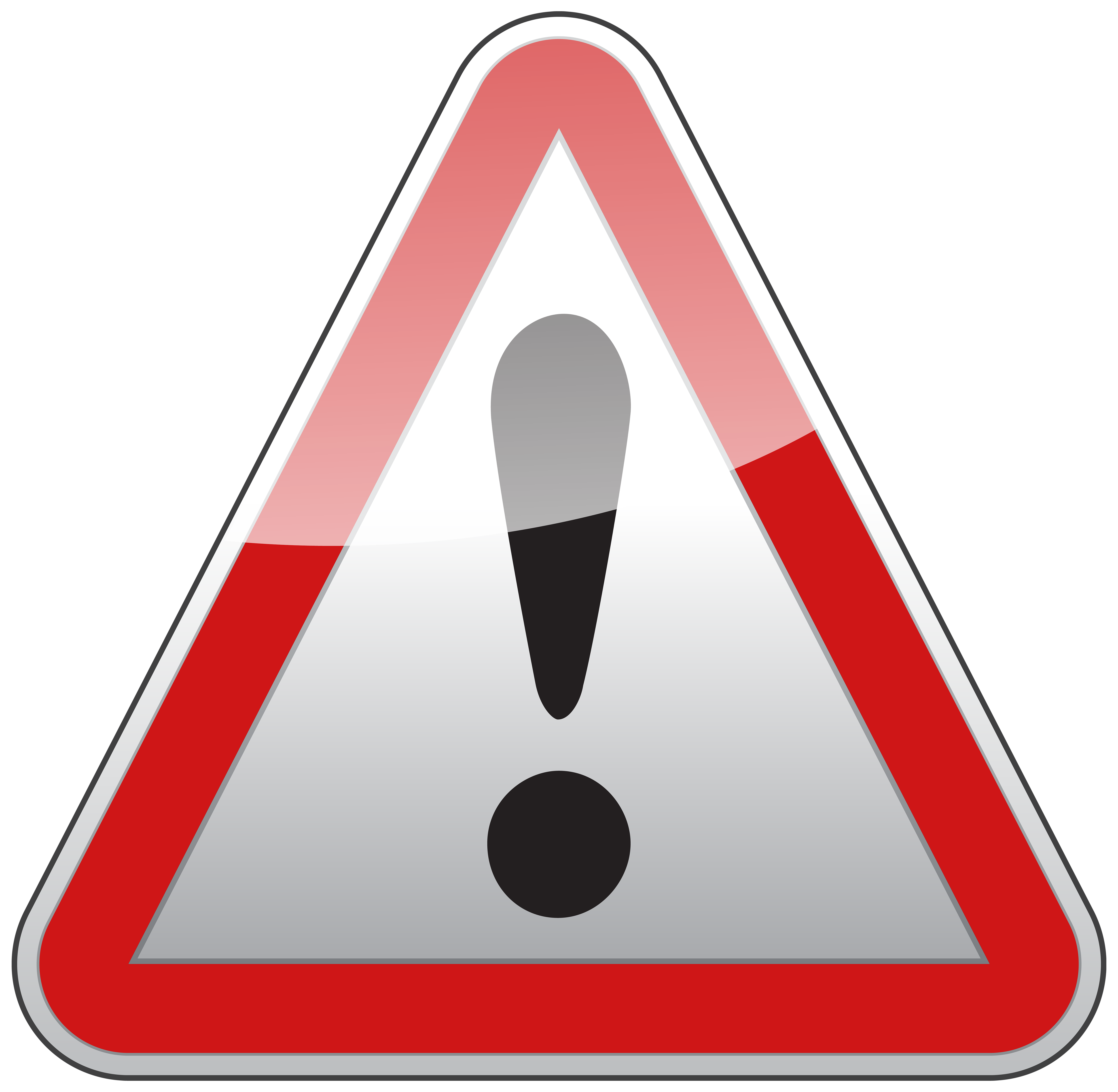 triangle warning sign clipart #39218