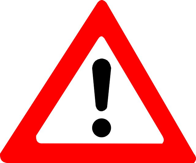 warning sign attention warning exclamation mark vector graphic #39195